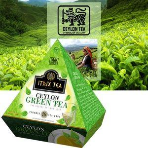 Itrix Ceylon Green Tea 25 bags Pyramid Style